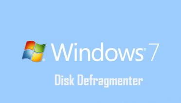 Disk Defragmenter-windows7