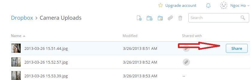 lấy direct link file dropbox