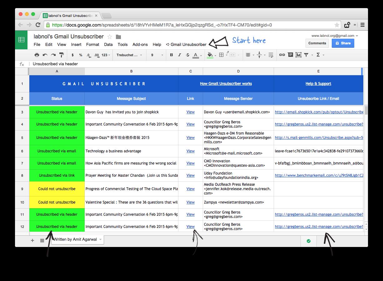 Hủy đăng ký theo dõi để tránh nhận email quảng cáo
